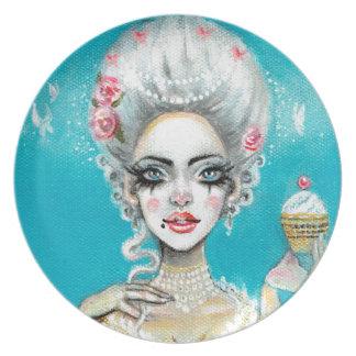 Let them eat cake mini Marie Antoinette cupcake Plate