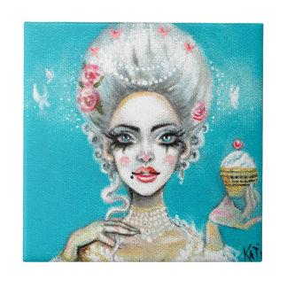 Let them eat cake mini Marie Antoinette cupcake Tile