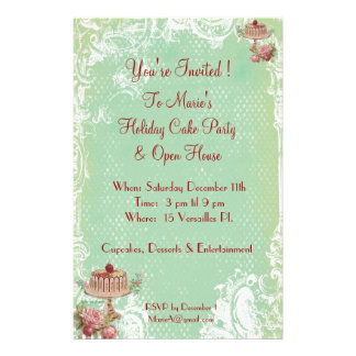 Let Them Eat Cake Party Invitations Flyers
