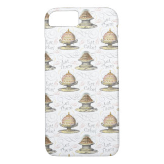 Let Them Eat Cake Vintage French Marie Antoinette iPhone 7 Case