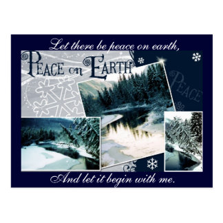 Let there be peace on earth postcard