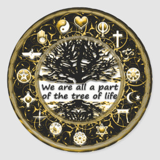Let there Be Peace on Earth Tree of Life Classic Round Sticker