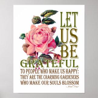 Let Us Be Grateful-Rose Pink - Poster 2