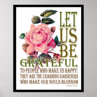 Let Us Be Grateful-Rose Pink - Poster 3