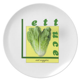 Let Us Eat Veggies Dinner Plates