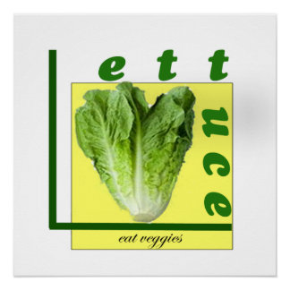 Let Us Eat Veggies Poster Perfect Poster