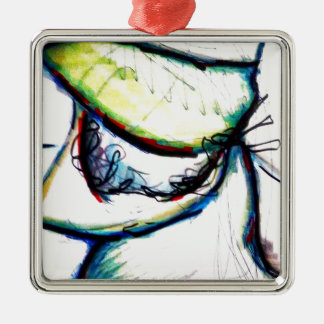 Let us take us to ideas unseen by Luminosity Silver-Colored Square Ornament
