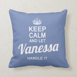 Let Vanessa handle it! Throw Pillow
