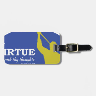 """Let Virtue Garnish Thy Thoughts"" Angel Moroni Bag Tag"