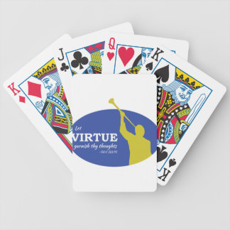 """Let Virtue Garnish Thy Thoughts"" Angel Moroni Bicycle Playing Cards"