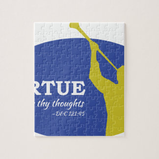 """Let Virtue Garnish Thy Thoughts"" Angel Moroni Jigsaw Puzzle"