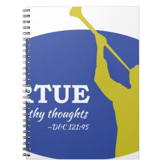"""""""Let Virtue Garnish Thy Thoughts"""" Angel Moroni Notebook"""