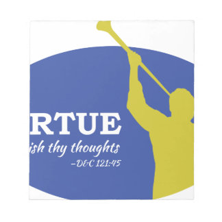 """Let Virtue Garnish Thy Thoughts"" Angel Moroni Notepad"