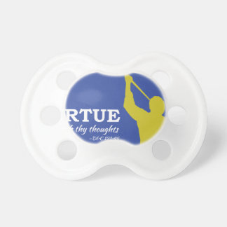 """Let Virtue Garnish Thy Thoughts"" Angel Moroni Pacifier"