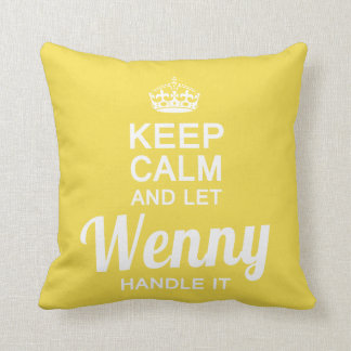 Let Wenny handle it Throw Pillow