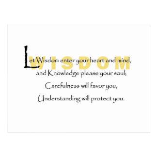 Let Wisdom Enter Your Heart Postcard