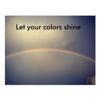 Let your colors shine postcard