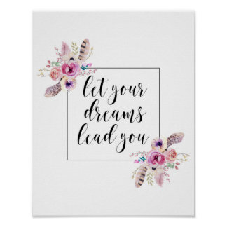Let Your Dreams Lead You Inspirational Print