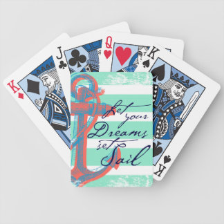 Let Your Dreams Set Sail Bicycle Playing Cards