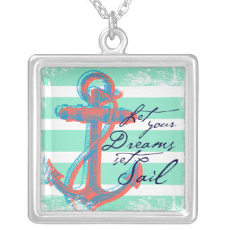 Let Your Dreams Set Sail Silver Plated Necklace