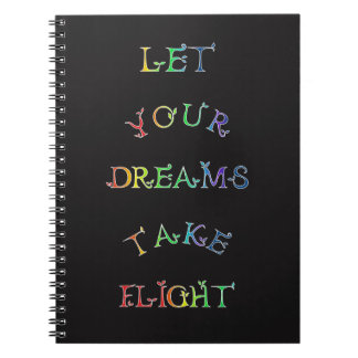 Let Your Dreams Take Flight! Rainbow Letters Notebook
