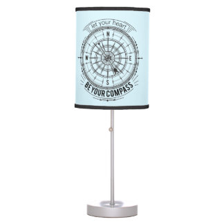 Let Your Heart Be Your Compass Table Lamp
