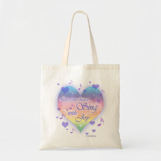 """""""Let Your Heart SING With Joy"""" Musical Notes Bag"""