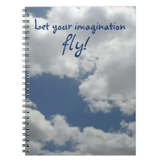 Let your imagination fly Cool Clouds Photo Print Notebook