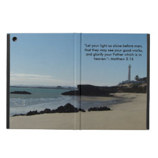 """""""Let your light shine before man.."""" Lighthouse Cover For iPad Air"""