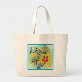 Let Your Light Shine Large Tote Bag
