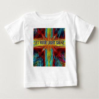 """Let Your Light Shine"" Modern Diversity Cross Baby T-Shirt"