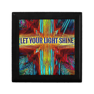 """Let Your Light Shine"" Modern Diversity Cross Keepsake Boxes"