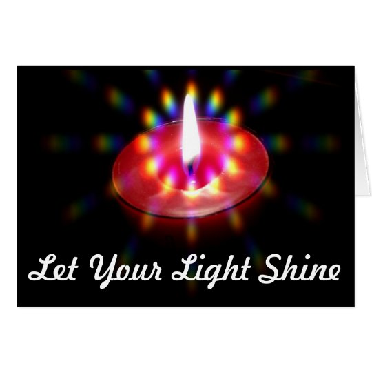 Let Your Light Shine notecard