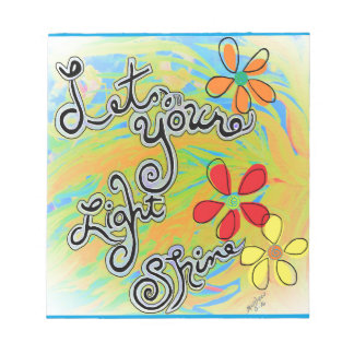 Let Your Light Shine Notepad