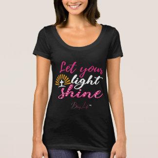 Let Your Light Shine Scoop Neck T-Shirt