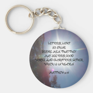 LET YOUR LIGHTSO SHINEBEFORE MEN, ... KEYCHAIN