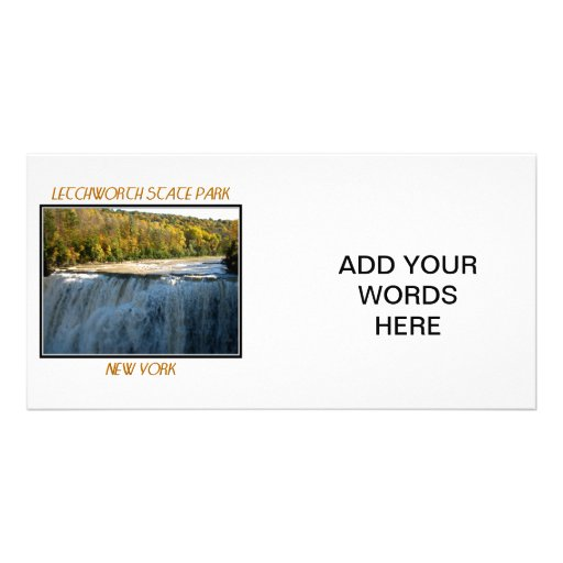 Letchworth State Park - Middle Falls Photo Greeting Card