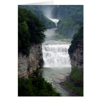 Letchworth State Park Upper and Middle Waterfalls Card