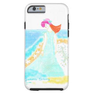 L'été rêve l'iphone d'illustration de fille de coque tough iPhone 6