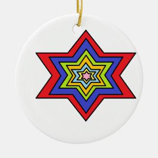L'étoile colorée décorations pour sapins de noël