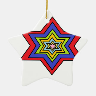 L'étoile colorée ornement étoile en céramique