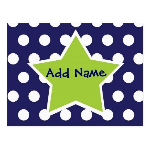 L'étoile géniale le font vous-même carte postale d