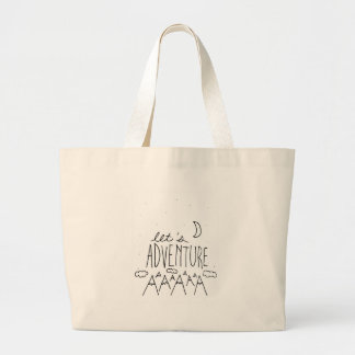 Let's Adventure-01 Large Tote Bag