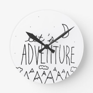 Let's Adventure-01 Round Clock
