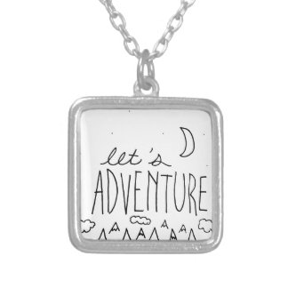 Let's Adventure-01 Silver Plated Necklace