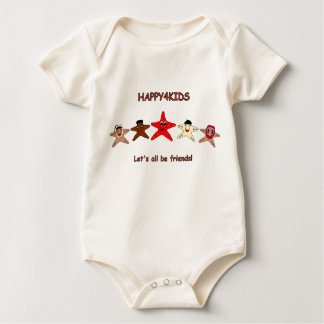 Let's all be friends! baby bodysuit
