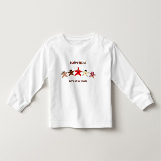 Let's all be friends! toddler t-shirt