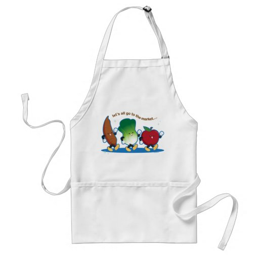 Let's All Go to the Market Apron