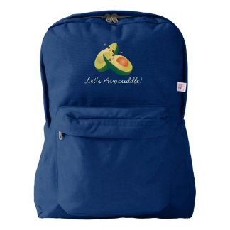 Let's Avocuddle Funny Cute Avocados Pun Humor Backpack
