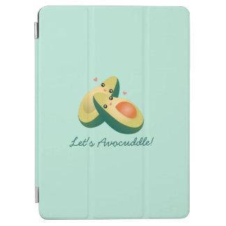 Let's Avocuddle Funny Cute Avocados Pun Humor iPad Air Cover